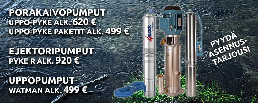 Mr. LVI toimittaa kaikenlaiset vesipumput mallista riippumatta; porakaivopumput, ejektroripumput, uppovesipumput ja paljon muuta!